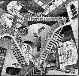 Maurits Cornelis Escher -La Maison aux escalier - 1951